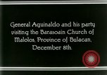 Image of Philippine President Emilio Aguinaldo Bulacan Philippines, 1929, second 3 stock footage video 65675078020