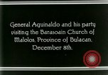 Image of Philippine President Emilio Aguinaldo Bulacan Philippines, 1929, second 11 stock footage video 65675078020