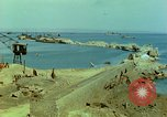Image of bombed breakwater Italy, 1944, second 2 stock footage video 65675078061