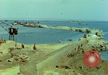 Image of bombed breakwater Italy, 1944, second 8 stock footage video 65675078061