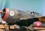Image of P-47 aircraft Corsica France, 1944, second 7 stock footage video 65675078083