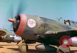 Image of P-47 aircraft Corsica France, 1944, second 8 stock footage video 65675078083