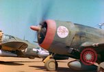 Image of P-47 aircraft Corsica France, 1944, second 9 stock footage video 65675078083
