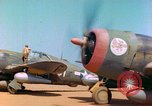Image of P-47 aircraft Corsica France, 1944, second 10 stock footage video 65675078083
