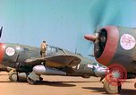 Image of P-47 aircraft Corsica France, 1944, second 11 stock footage video 65675078083