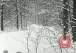 Image of snow forest Detroit Michigan USA, 1919, second 9 stock footage video 65675078142