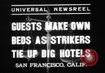 Image of hotel staff strike San Francisco California USA, 1937, second 3 stock footage video 65675078159