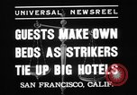 Image of hotel staff strike San Francisco California USA, 1937, second 4 stock footage video 65675078159