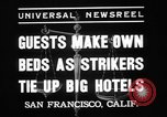 Image of hotel staff strike San Francisco California USA, 1937, second 7 stock footage video 65675078159