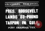 Image of President Roosevelt Port Arkansas Texas USA, 1937, second 8 stock footage video 65675078160