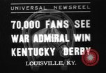 Image of War Admiral Louisville Kentucky USA, 1937, second 1 stock footage video 65675078162