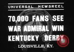 Image of War Admiral Louisville Kentucky USA, 1937, second 2 stock footage video 65675078162