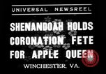 Image of apple festival Winchester Virginia USA, 1937, second 1 stock footage video 65675078163