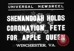 Image of apple festival Winchester Virginia USA, 1937, second 4 stock footage video 65675078163