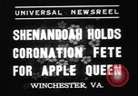 Image of apple festival Winchester Virginia USA, 1937, second 5 stock footage video 65675078163