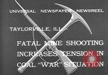 Image of coal mine Taylorville Illinois USA, 1932, second 3 stock footage video 65675078165