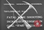 Image of coal mine Taylorville Illinois USA, 1932, second 4 stock footage video 65675078165