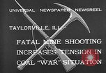 Image of coal mine Taylorville Illinois USA, 1932, second 7 stock footage video 65675078165