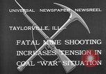 Image of coal mine Taylorville Illinois USA, 1932, second 10 stock footage video 65675078165