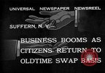 Image of barter system Suffern New York USA, 1932, second 1 stock footage video 65675078167