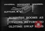 Image of barter system Suffern New York USA, 1932, second 2 stock footage video 65675078167