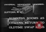 Image of barter system Suffern New York USA, 1932, second 3 stock footage video 65675078167