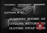 Image of barter system Suffern New York USA, 1932, second 4 stock footage video 65675078167
