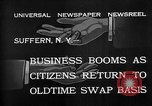 Image of barter system Suffern New York USA, 1932, second 5 stock footage video 65675078167