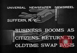 Image of barter system Suffern New York USA, 1932, second 6 stock footage video 65675078167