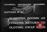 Image of barter system Suffern New York USA, 1932, second 7 stock footage video 65675078167