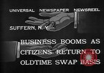 Image of barter system Suffern New York USA, 1932, second 10 stock footage video 65675078167