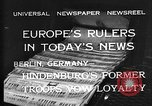 Image of President Hindenburg Berlin Germany, 1932, second 2 stock footage video 65675078168