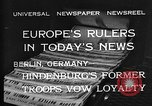 Image of President Hindenburg Berlin Germany, 1932, second 4 stock footage video 65675078168