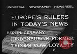 Image of President Hindenburg Berlin Germany, 1932, second 5 stock footage video 65675078168