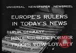 Image of President Hindenburg Berlin Germany, 1932, second 6 stock footage video 65675078168