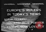 Image of President Hindenburg Berlin Germany, 1932, second 7 stock footage video 65675078168