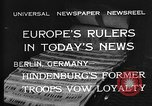 Image of President Hindenburg Berlin Germany, 1932, second 9 stock footage video 65675078168