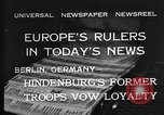 Image of President Hindenburg Berlin Germany, 1932, second 10 stock footage video 65675078168