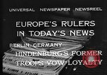 Image of President Hindenburg Berlin Germany, 1932, second 11 stock footage video 65675078168