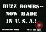 Image of buzz bomb United States USA, 1945, second 6 stock footage video 65675078191