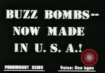 Image of buzz bomb United States USA, 1945, second 7 stock footage video 65675078191