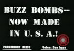 Image of buzz bomb United States USA, 1945, second 9 stock footage video 65675078191