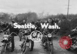 Image of mud motorcycle race Seattle Washington USA, 1954, second 1 stock footage video 65675078215