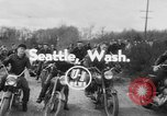 Image of mud motorcycle race Seattle Washington USA, 1954, second 2 stock footage video 65675078215