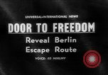 Image of underground tunnel Berlin Germany, 1962, second 1 stock footage video 65675078218