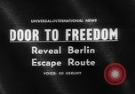 Image of underground tunnel Berlin Germany, 1962, second 4 stock footage video 65675078218