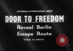 Image of underground tunnel Berlin Germany, 1962, second 5 stock footage video 65675078218