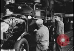 Image of Henry Ford with 1930's Ford sedans Dearborn Michigan USA, 1935, second 2 stock footage video 65675078249