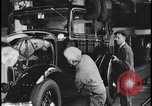Image of Henry Ford with 1930's Ford sedans Dearborn Michigan USA, 1935, second 4 stock footage video 65675078249