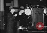 Image of Henry Ford with 1930's Ford sedans Dearborn Michigan USA, 1935, second 10 stock footage video 65675078249